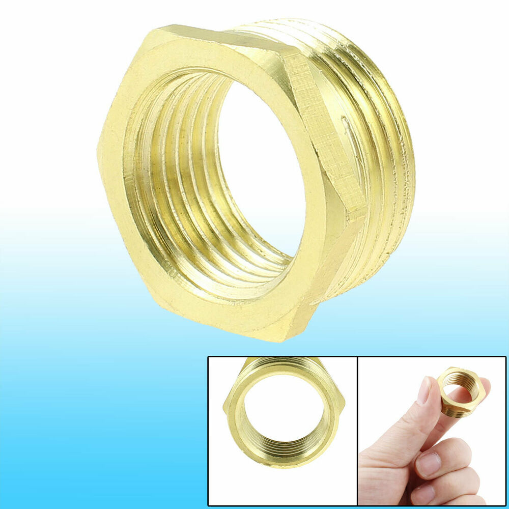 Brass pt hex head busing connector pipe
