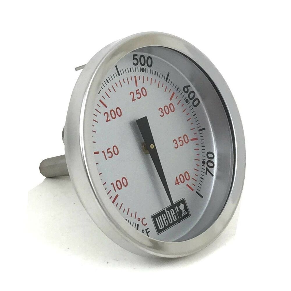 genuine weber gas grill replacement thermometer 67088 692753457882 ebay. Black Bedroom Furniture Sets. Home Design Ideas