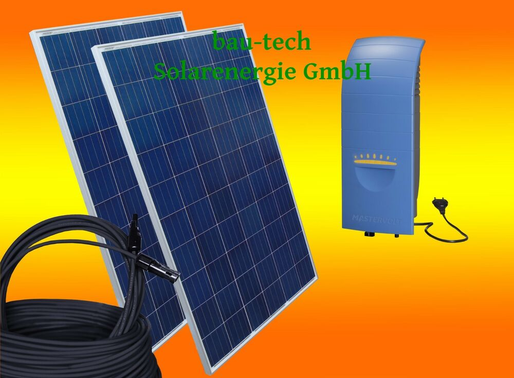 720watt photovoltaikanlage eigenverbrauch plug play solaranlage f r steckdose ebay. Black Bedroom Furniture Sets. Home Design Ideas