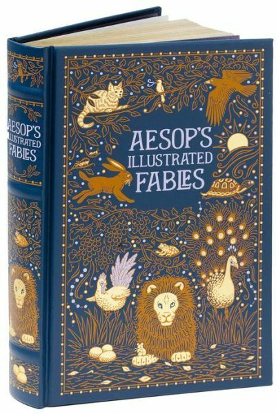 *New Sealed Leatherbound* AESOP'S ILLUSTRATED FABLES by Aesop (Illustrated 2013)