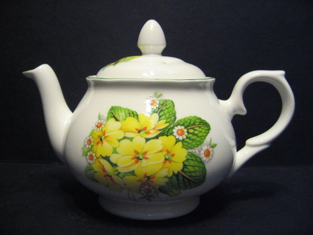 primrose 2 cup english fine bone china tea pot by milton china ebay. Black Bedroom Furniture Sets. Home Design Ideas