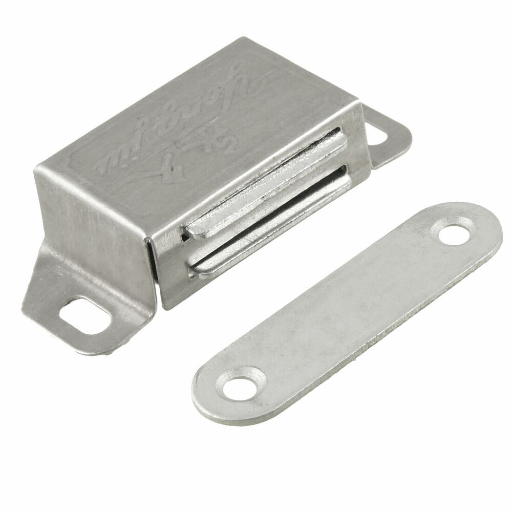 silver tone plate 1 8 long magnetic catch for cabinet door ebay