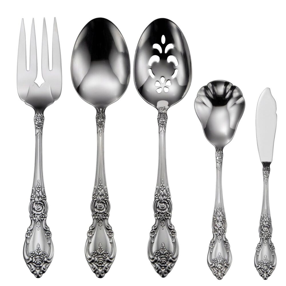 Oneida Wordsworth 5 Piece Serving Stainless Flatware Set