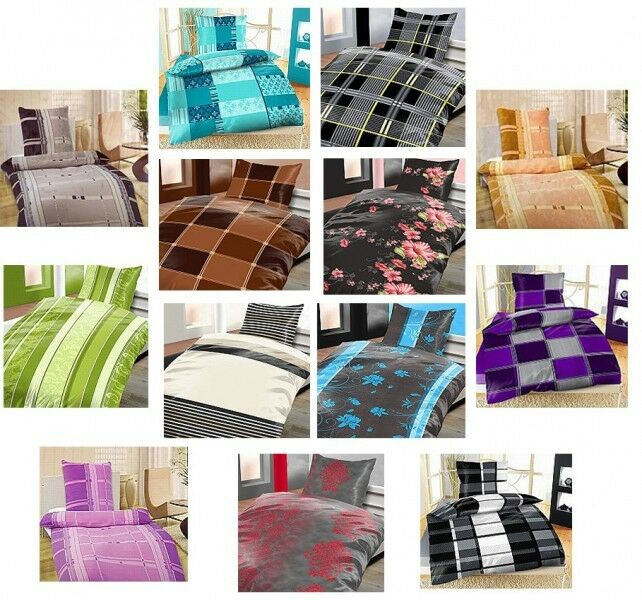 4 tlg winter flausch fleece bettw sche mikrofaser 135x 200 cm thermofleece weich ebay. Black Bedroom Furniture Sets. Home Design Ideas