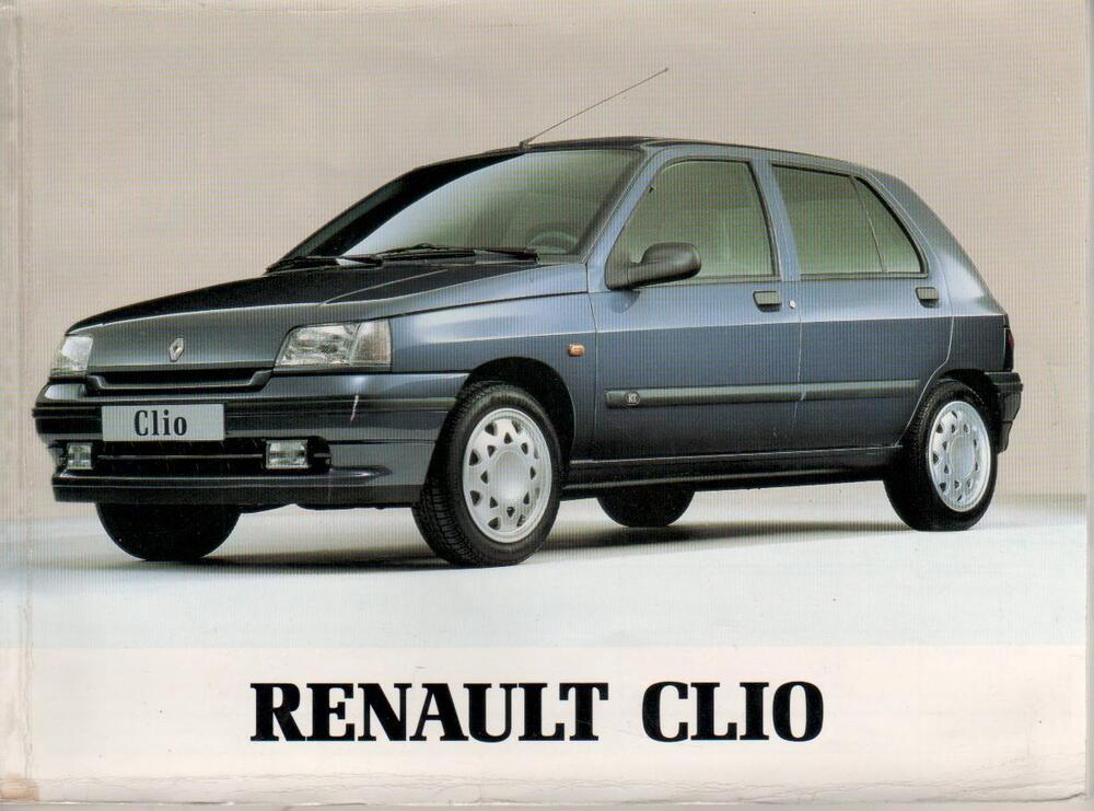 renault clio baccara 1 betriebsanleitung 1995 bedienungsanleitung handbuch ba ebay. Black Bedroom Furniture Sets. Home Design Ideas