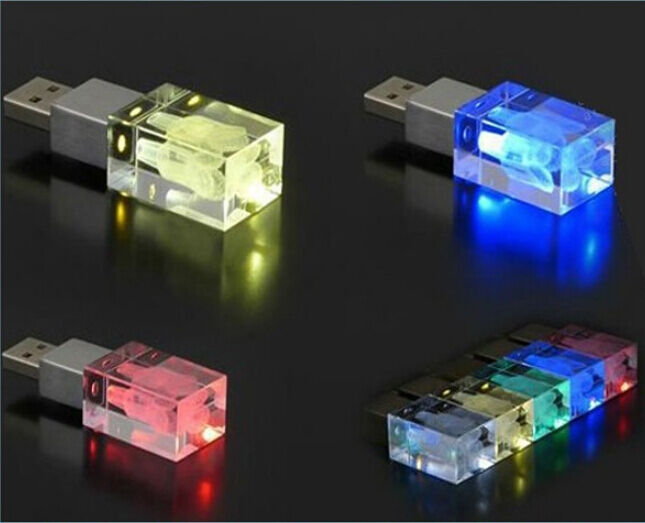 inside diy logo led light glass model usb 2 0 flash memory stick disk pen drive ebay. Black Bedroom Furniture Sets. Home Design Ideas