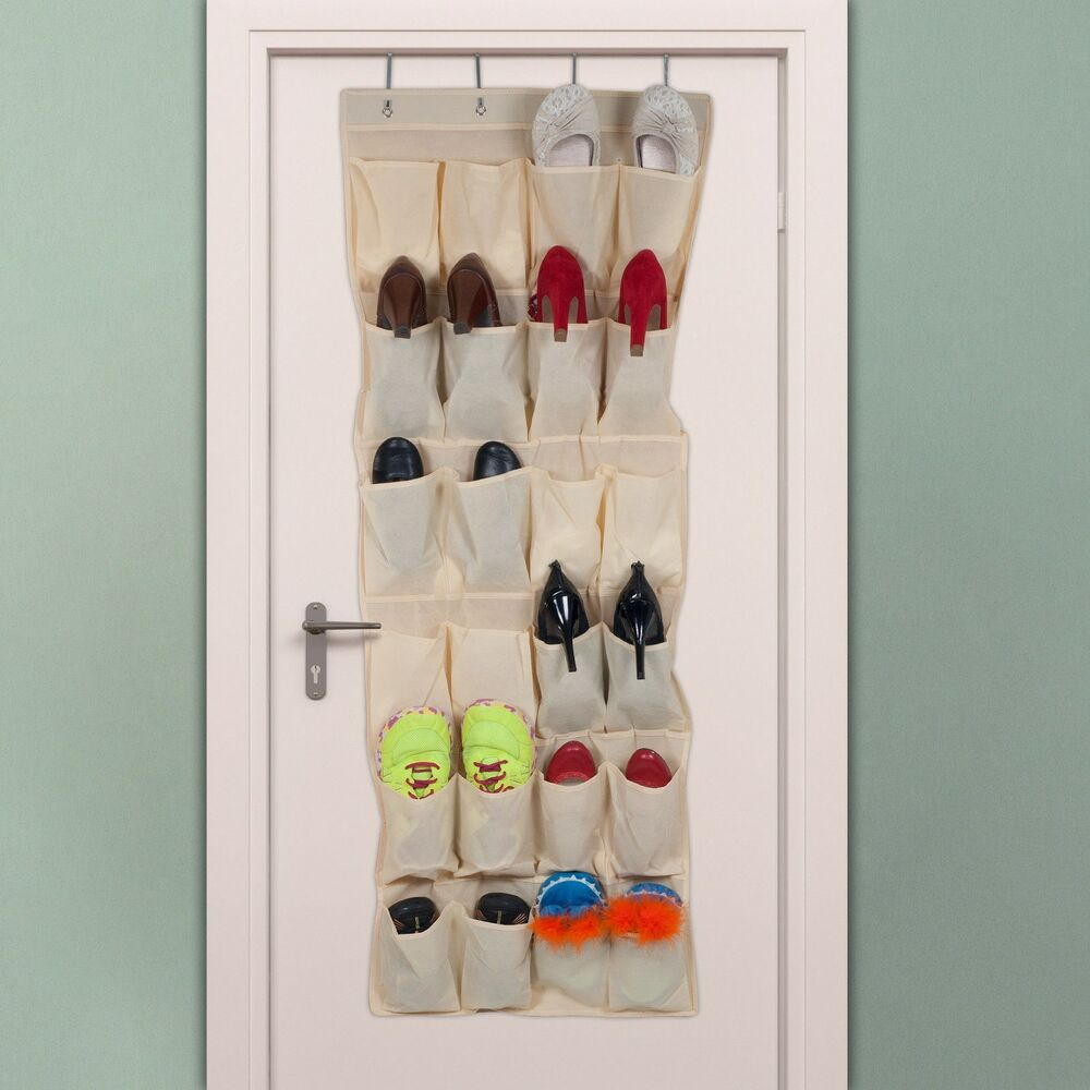 lavish home over the door shoe organizer fits 12 pairs ebay. Black Bedroom Furniture Sets. Home Design Ideas