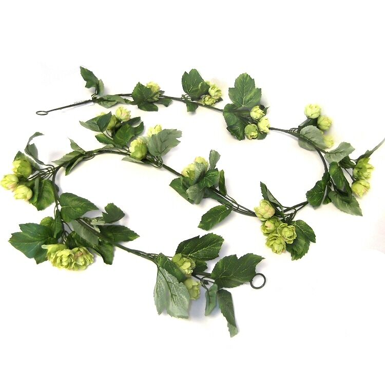 Artificial hop garland decorative plastic hops for Artificial hops decoration