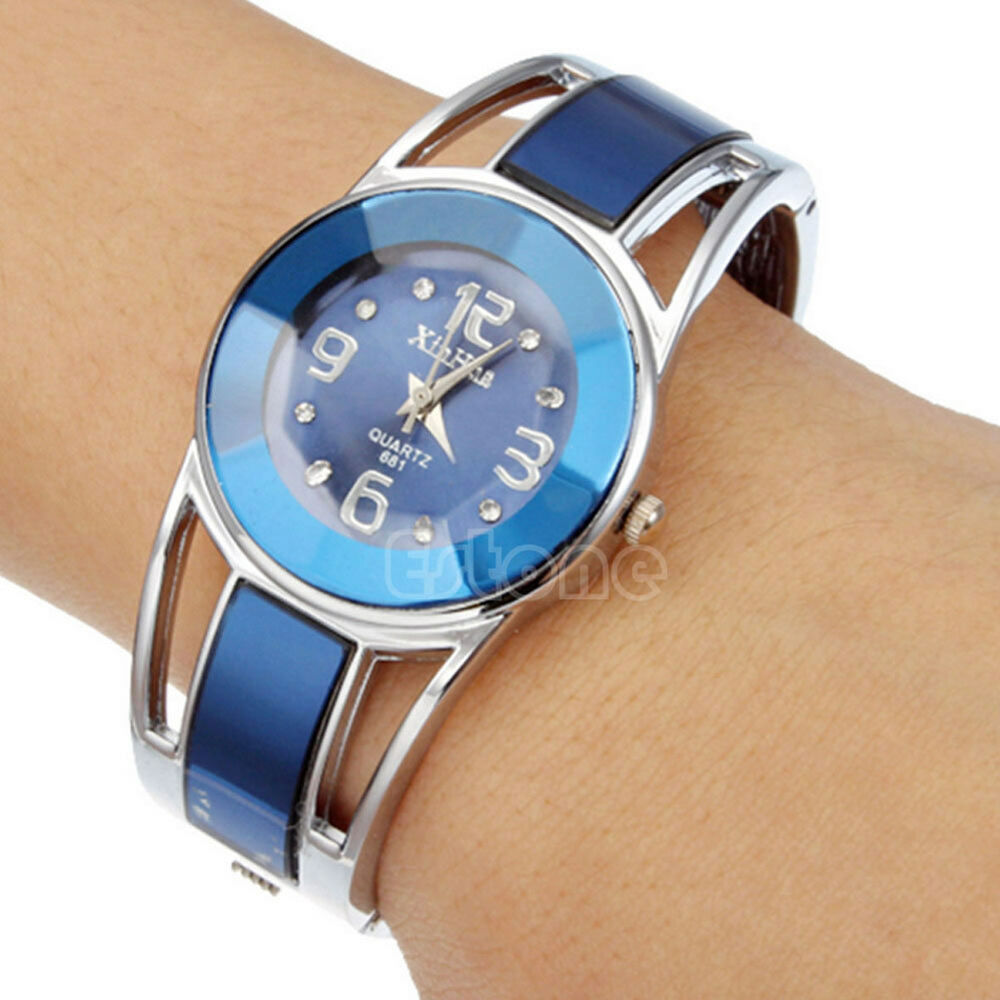 Stylish Womens Ladies Blue Round Quartz Analog Dress ...