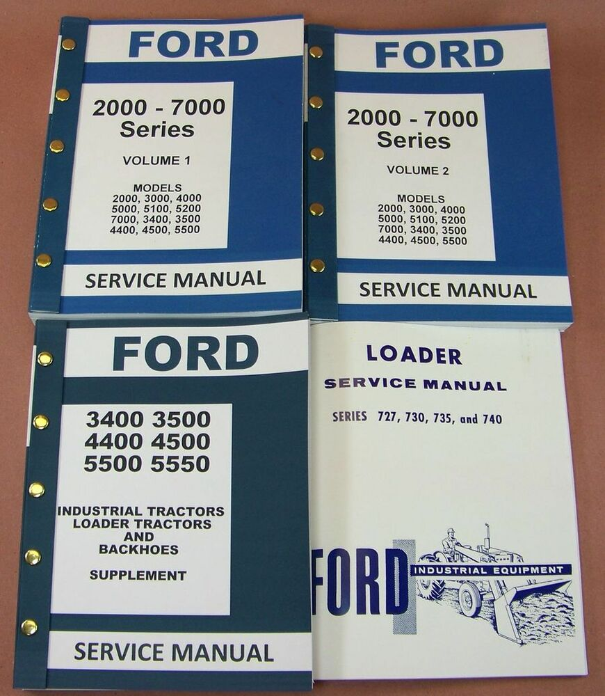Ford 3400 3500 4400 4500 Industrial Tractor Loader Service