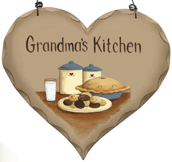 Rustic Vintage Country GRANDMA 39 S KiTCHeN Sign Primitive Heart EBay