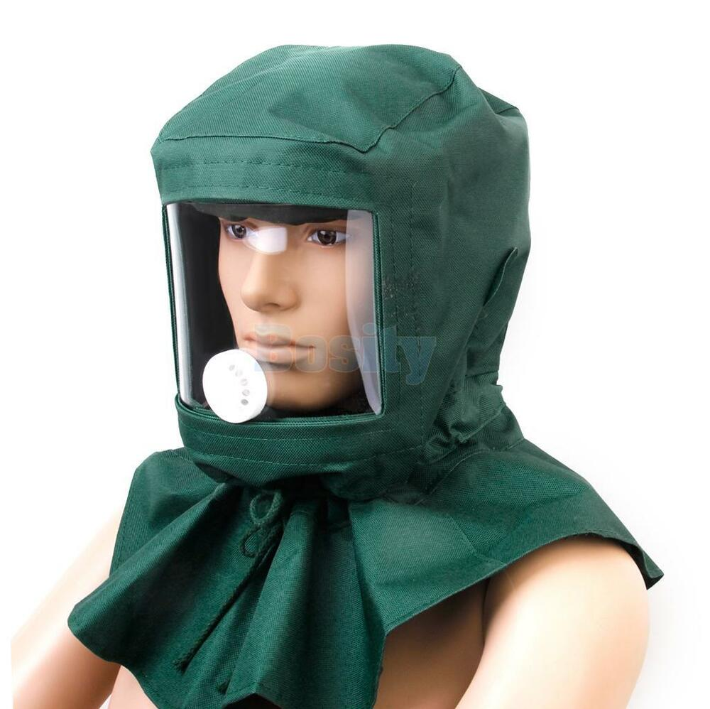 new sand blasting hood sandblaster mask tools anti wind protective mask ebay. Black Bedroom Furniture Sets. Home Design Ideas