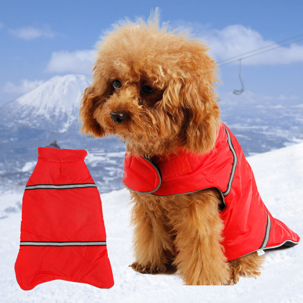 Snowsuits pet clothes dog winter warm clothing reflective safety