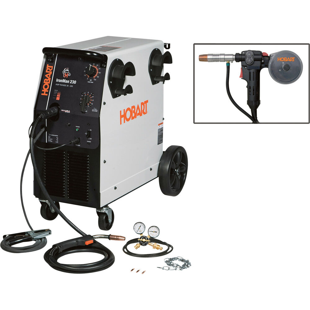 Hobart Ironman 230 230v Flux Cored  Mig Welder W  20