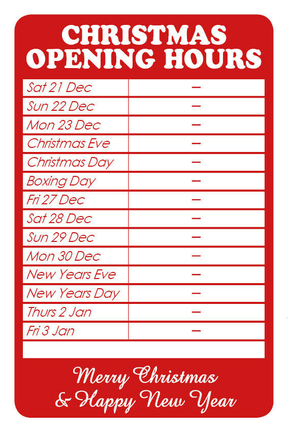 Forex opening times christmas