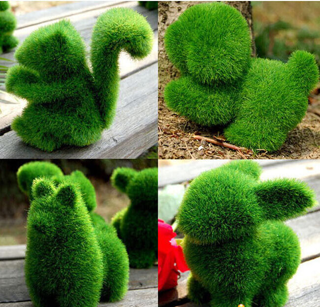 1 pcs cute artificial turf grass animals home desktop for Animals decoration