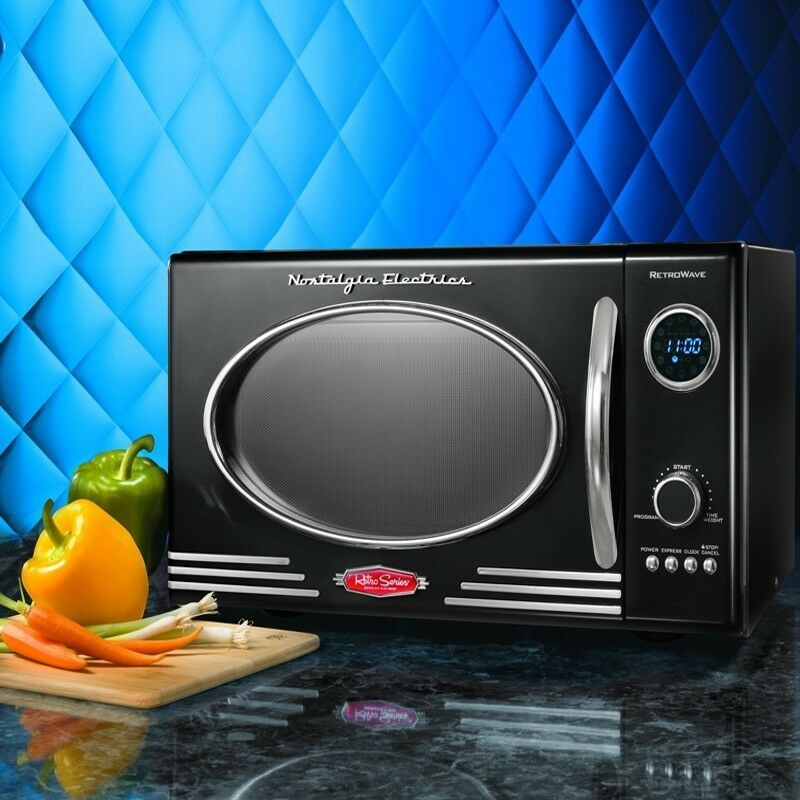 Retro Countertop Microwave Oven Compact Home Kitchen