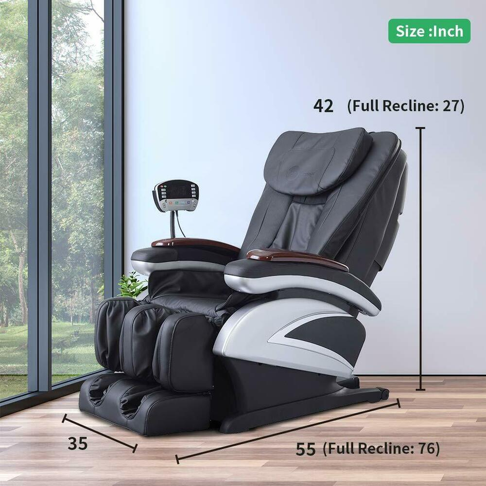 Electric Full Body Shiatsu Massage Chair Recliner W Heat