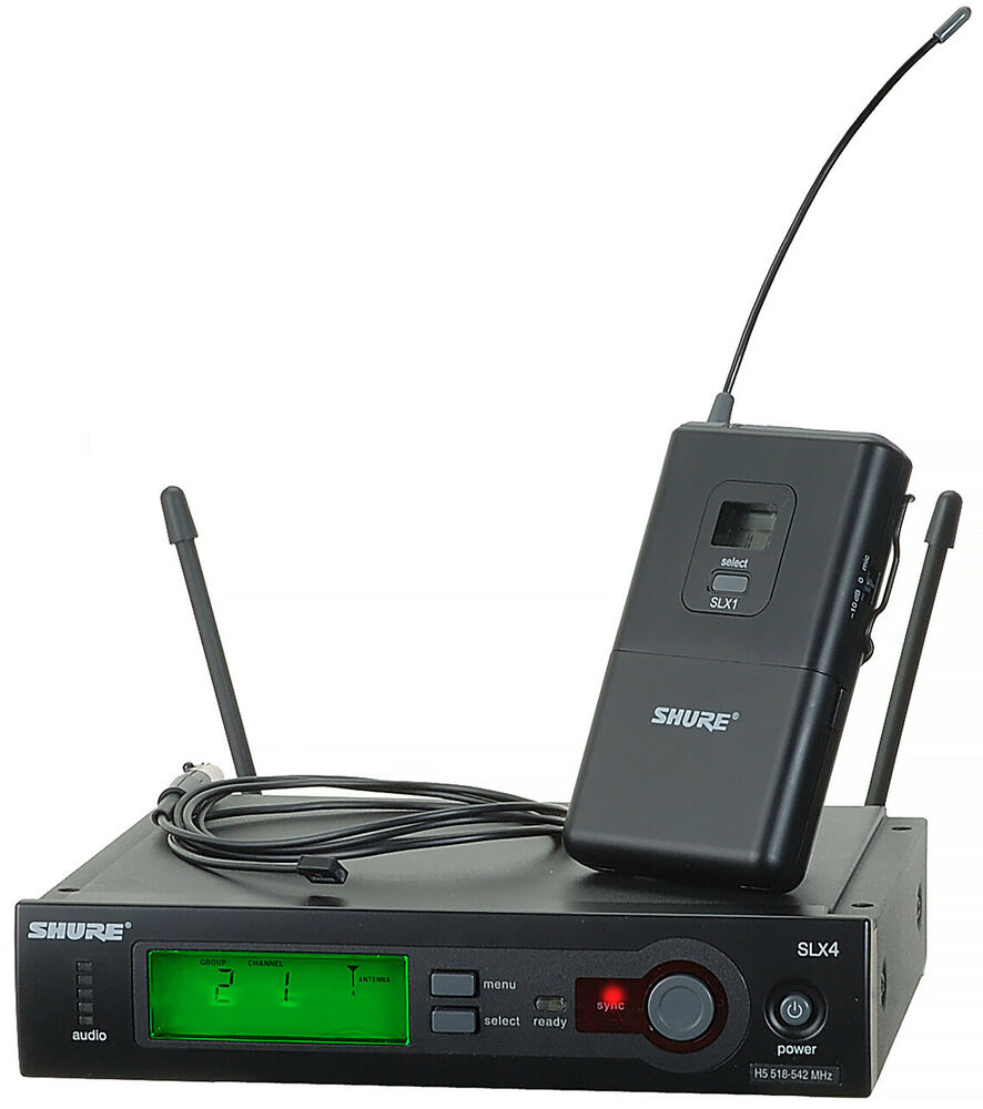 shure slx14 93 wireless system with wl93 lavalier microphone g5 ebay. Black Bedroom Furniture Sets. Home Design Ideas
