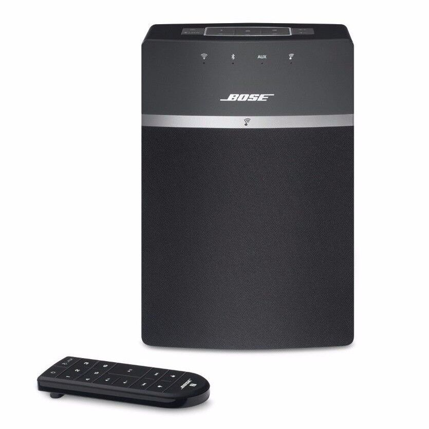 new bose soundtouch 10 wi fi wireless music system black. Black Bedroom Furniture Sets. Home Design Ideas