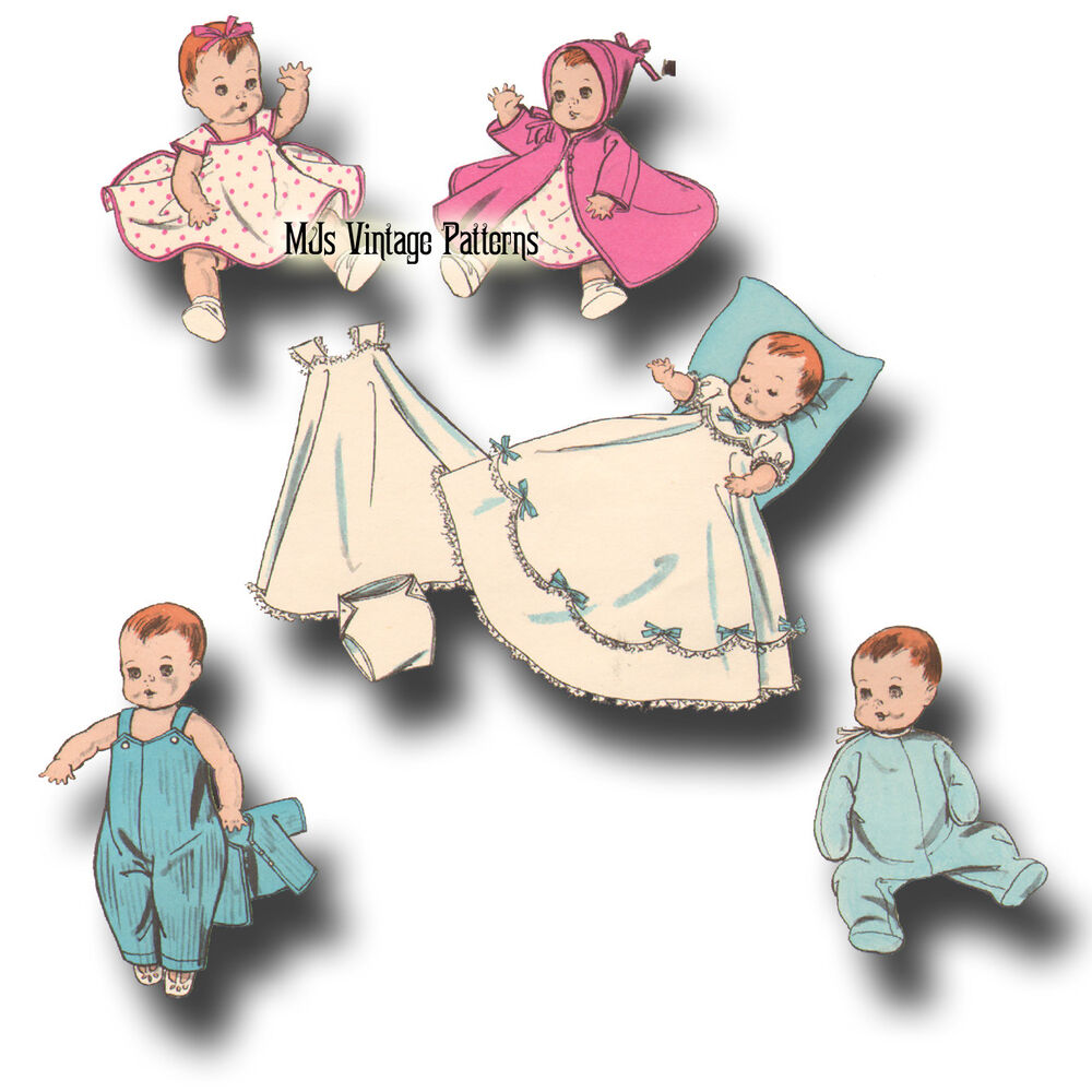Vintage Baby Doll Clothes Pattern 13 Quot 14 Quot Tiny Tears
