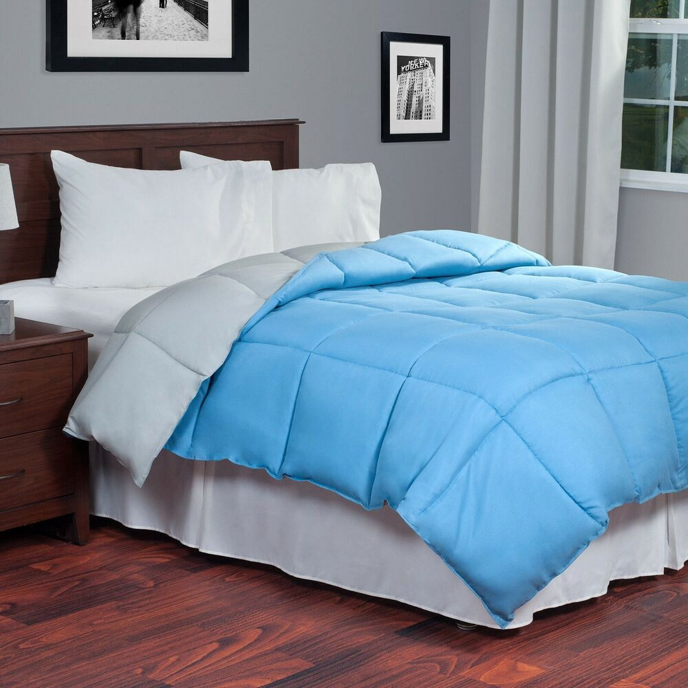 Lavish Home Reversible Down Alternative Comforter Twin
