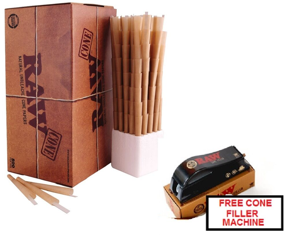 Raw Prerolled Ready To Fill Cones 800 Count King Size