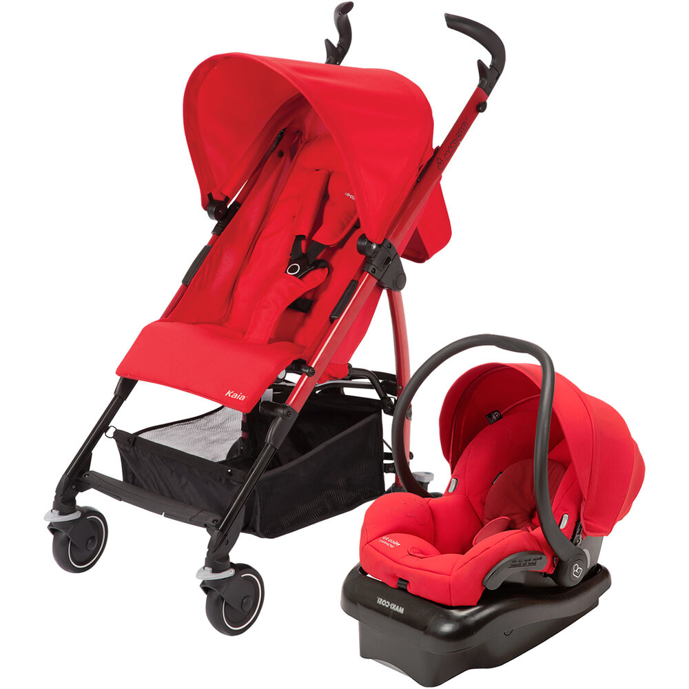 maxi cosi kaia stroller in intense red maxi cosi car seat travel system ebay. Black Bedroom Furniture Sets. Home Design Ideas