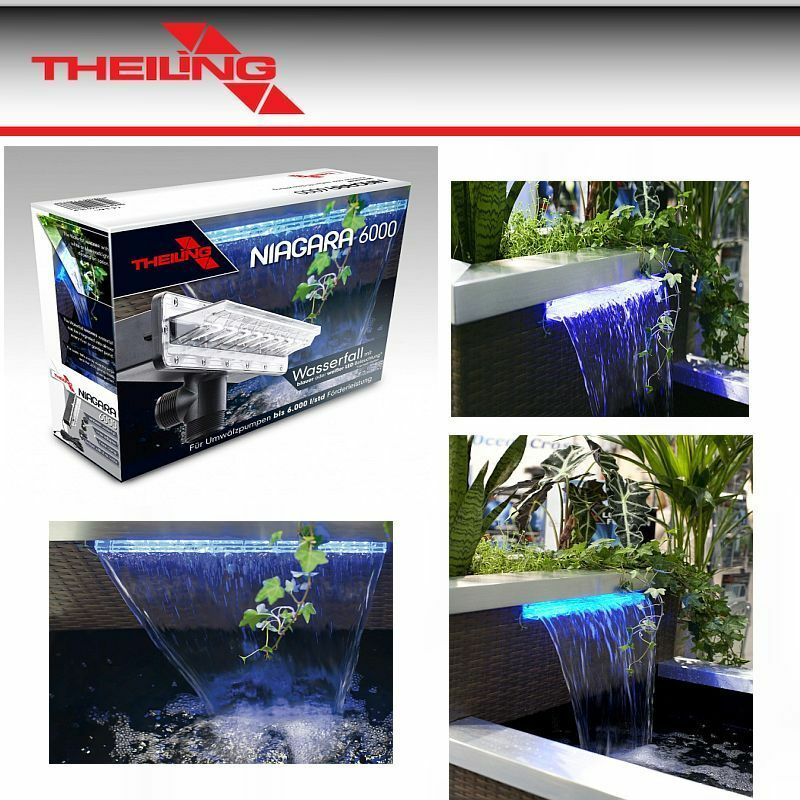 theiling niagara wasserfall mit led beleuchtung gartenteich ebay. Black Bedroom Furniture Sets. Home Design Ideas