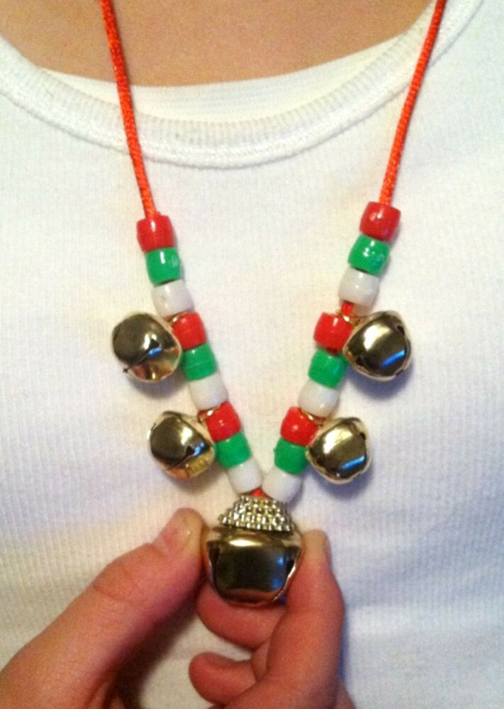 24 jingle bell necklace craft kits