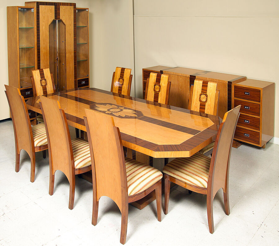 Infinity art deco 11 pc dining room set ebay - Pc dining room set ...