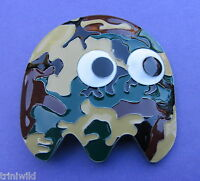 Pac Man Ghost Camouflage Belt Buckle