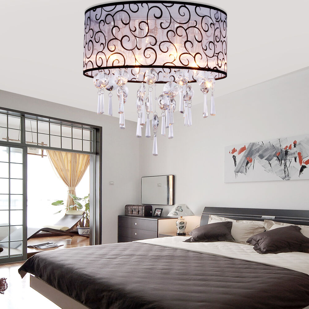 Vintage crystal pendant ceiling light lamp chandelier for Ebay living room lights