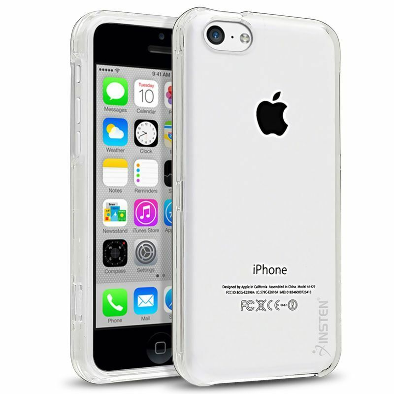 iphone 5c phone cases ultra thin clear transparent snap on 2343