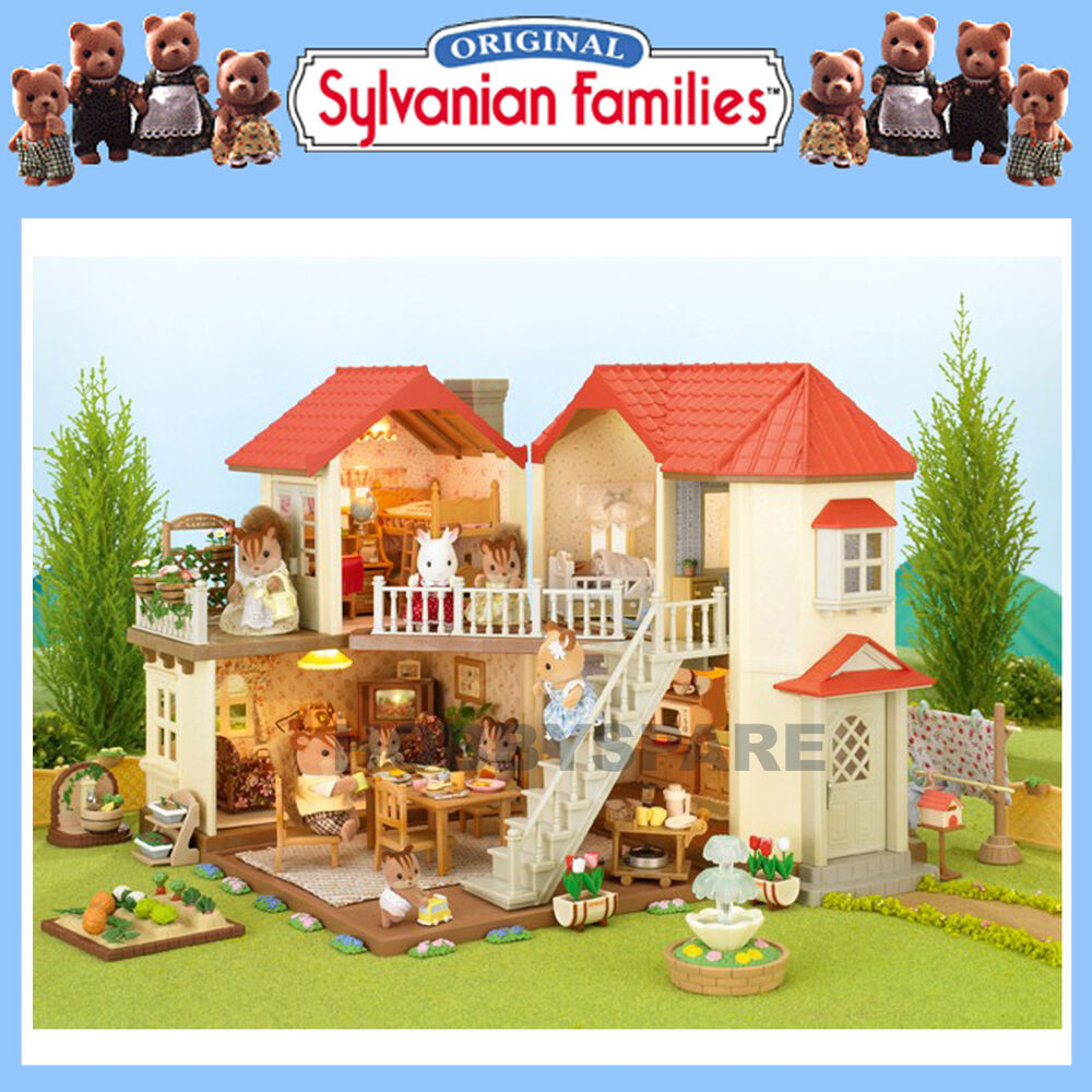 NEW SYLVANIAN FAMILIES BEECHWOOD HALL DOLL HOUSE w WORKING