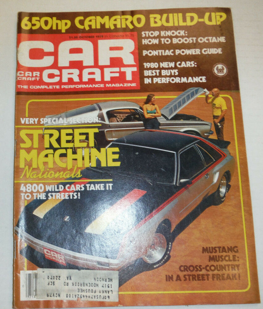Car craft magazine street machine nationals october 1979 for Car craft magazine back issues