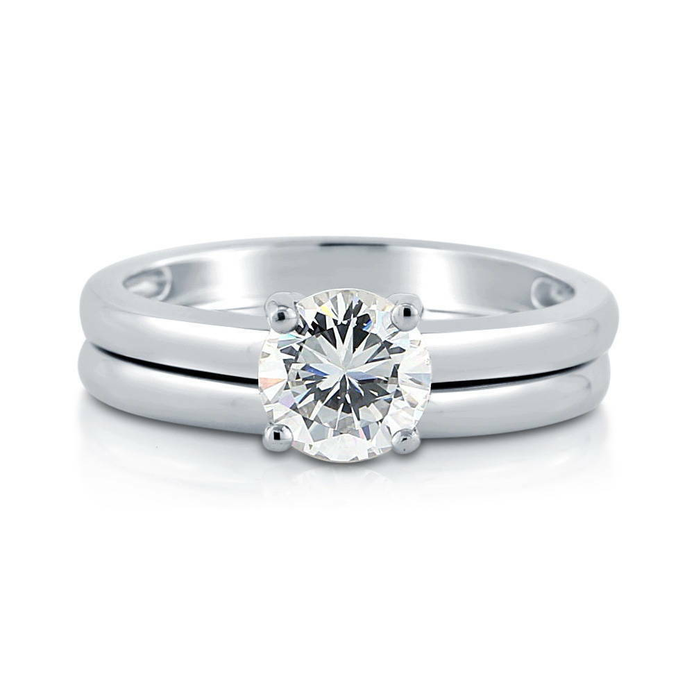 berricle sterling silver round cz solitaire engagement ring set 1