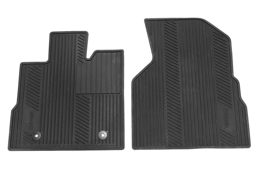 GM 22832328 All Weather Floor MAts Fits 2010-2015 Terrain Black with GMC Logo | eBay