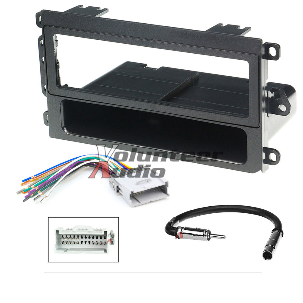 car radio stereo cd player dash install mounting trim bezel panel kit harness ebay 1962 Cadillac Dash Cadillac Interior