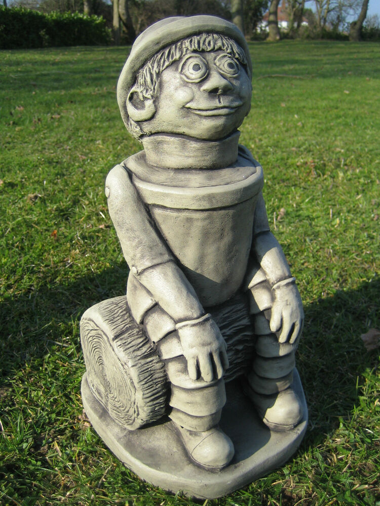 Ben flower pot man stone garden ornament ebay for Flower garden ornaments