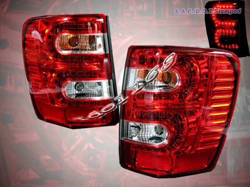 99 04 Jeep Grand Cherokee Led Tail Lights Red Pair 1999