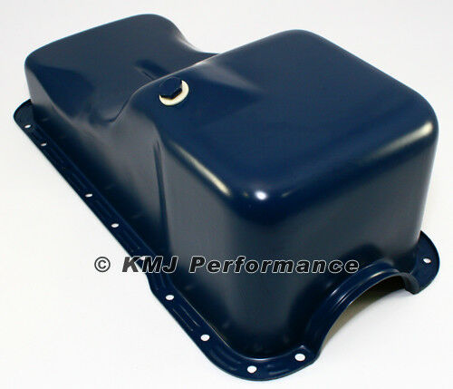 69 81 sbf ford 351w front sump blue oil pan stock capacity small block ebay. Black Bedroom Furniture Sets. Home Design Ideas