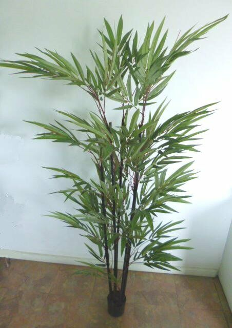 Artificial plants flowers bamboo cm stems in pot