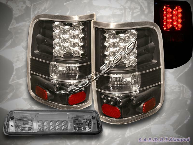 04 05 06 07 08 ford f 150 black tail lights led led. Black Bedroom Furniture Sets. Home Design Ideas