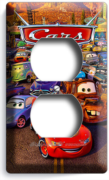 Cars 2 Lightning Mcqueen Sally Mater Disney Movie Power Outlet Wall Plate Cover Ebay