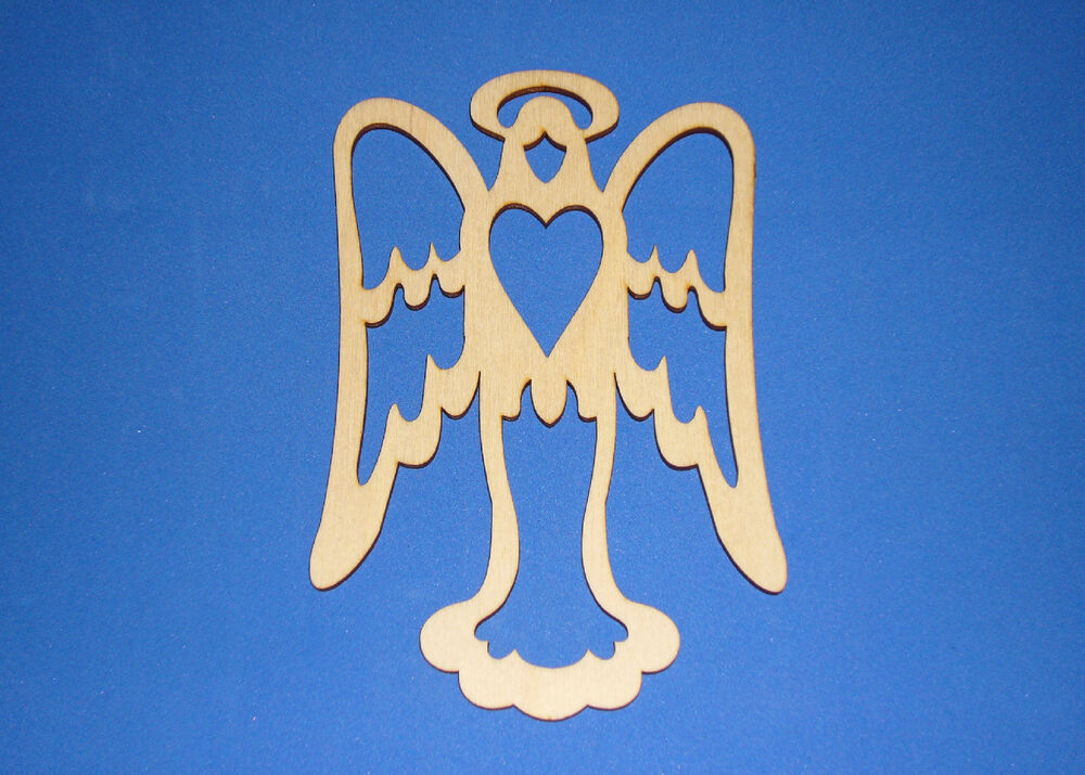 Angel Love Unfinished Wood Shape Cut Out AH598 Szs Crafts
