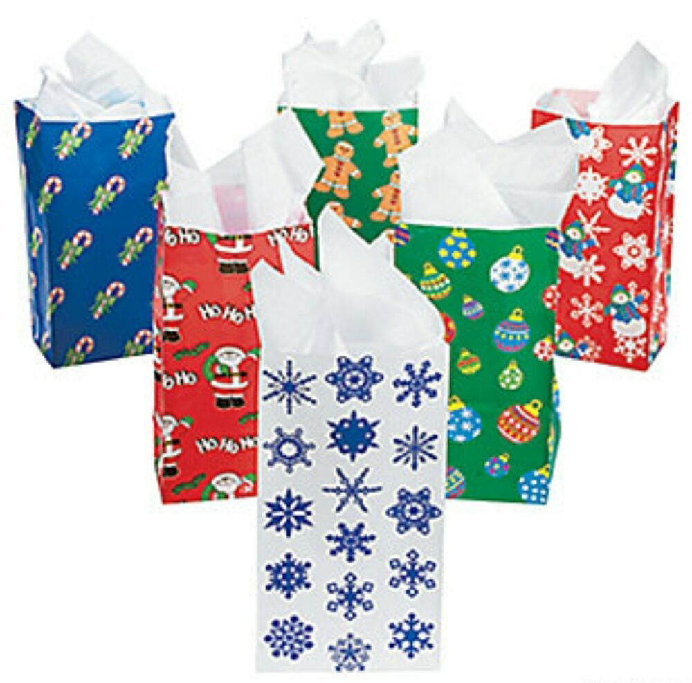 Holiday paper gift bags assortment christmas party
