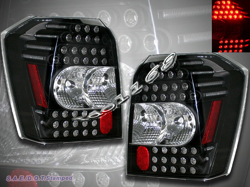 2006 07 08 09 10 Dodge Caliber Black Led Tail Lights Ebay
