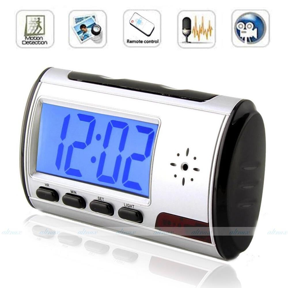Spy Clock Camera Motion Activated Hidden Security DVR