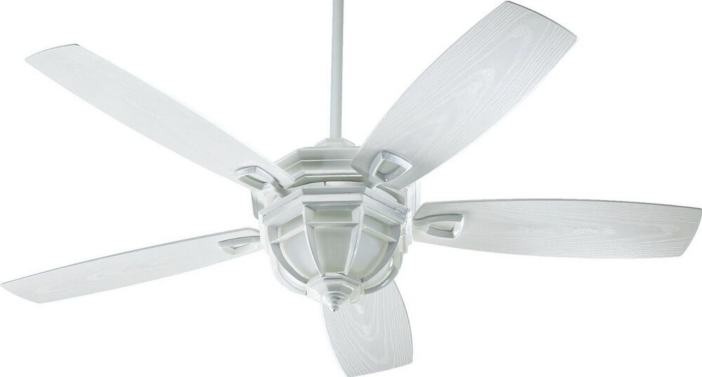 """White 52"""" Indoor/Outdoor Patio Ceiling Fan With Light Kit"""